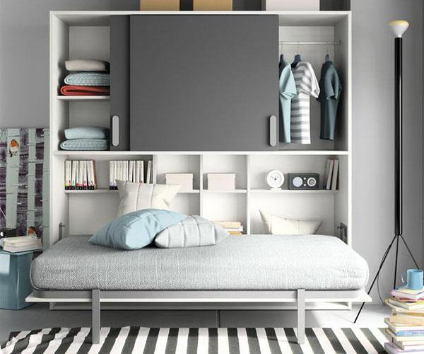 Cama juvenil abatible para el dormitorio de tus hijos for Dormitorio juvenil cama abatible