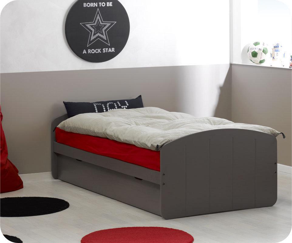 Comprar cama nido juvenil de 90x190cm chocolate madera maciza for Cama nido juvenil ikea