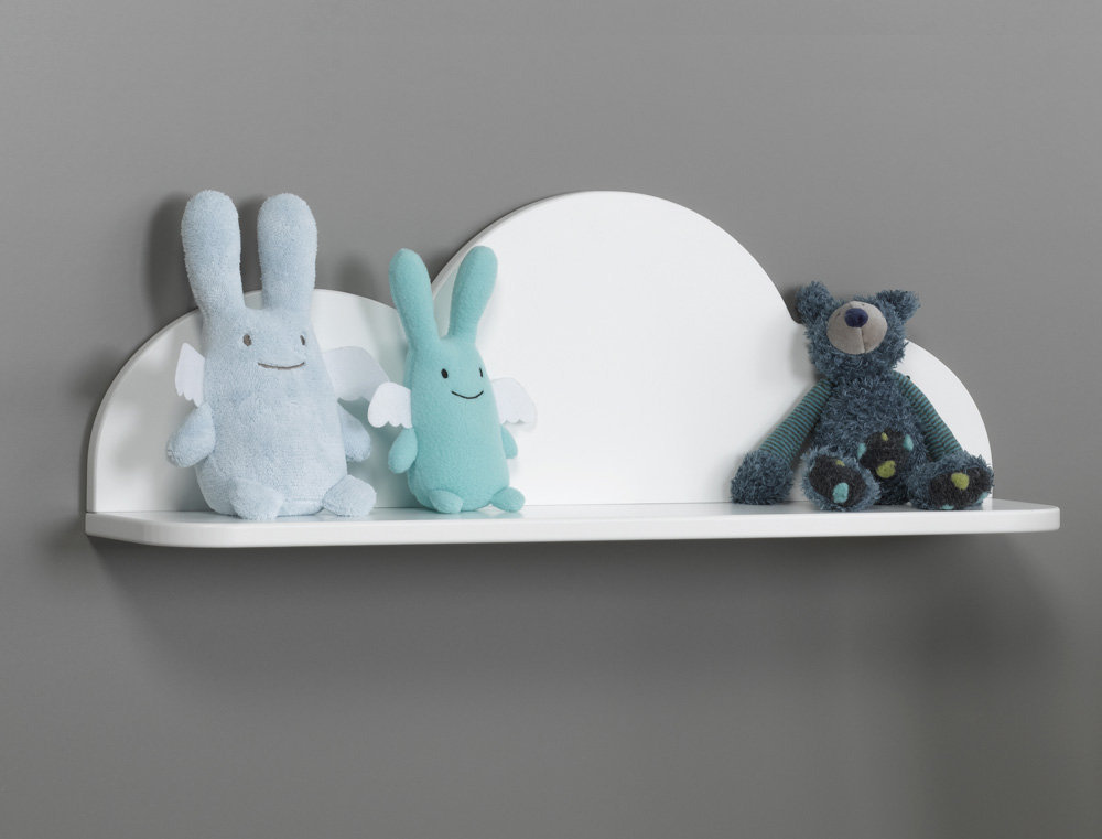 Comprar estanter a de pared nube blanca for Estanteria pared infantil